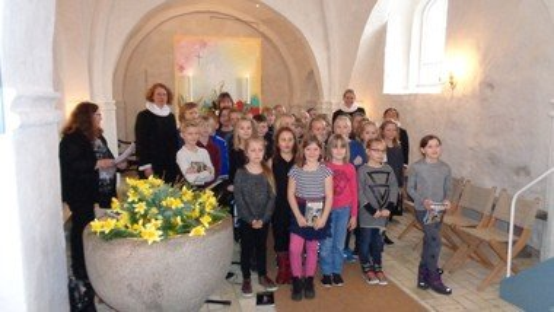 Afslutning med Arden områdets minikonfirmander i Vebbestrup Kirke