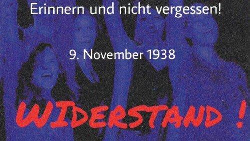 Widerstand!? Jugendliche erinnern mit Theatercollage an den 9. November 1938