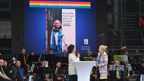 Fröhliches Reformationsjubiläum in der Hagener Innenstadt
