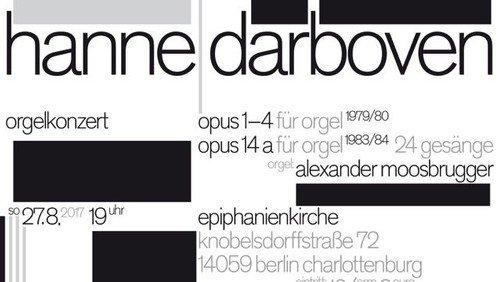 HANNE DARBOVEN Orgelkonzert