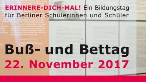 Erinnere-Dich-mal! Ein Bildungstag für Berliner Schülerinnen und Schüler ab Klasse 7