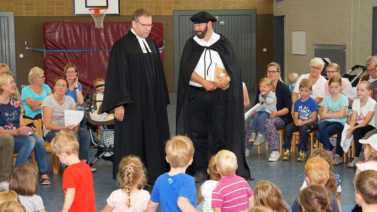 Im Bergland-Kindergarten drehte sich alles um Martin Luther