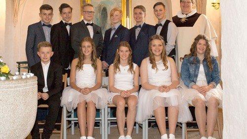 Konfirmander i Skelund kirke 2016