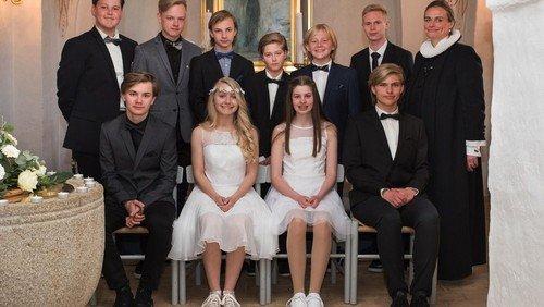 Konfirmander i Skelund kirke 2017