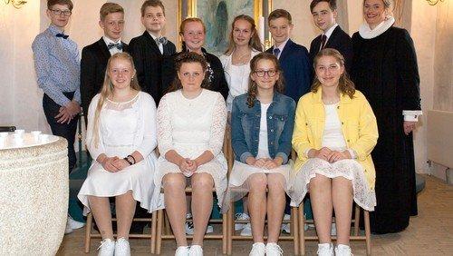 Konfirmander i Skelund kirke 2018