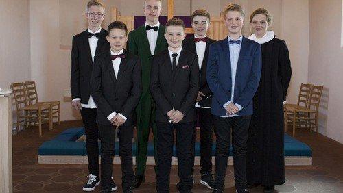 Konfirmander i Øster Hurup kirke 2015