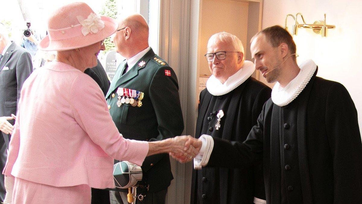 Dronningen kom på besøg