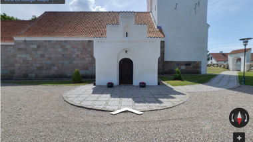 Nørholm kirke på Google streetview