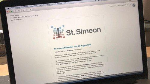 Den St. Simeon Newsletter abonnieren