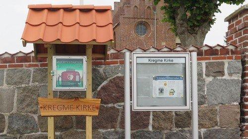 Hjertestarter foran Kregme Kirke