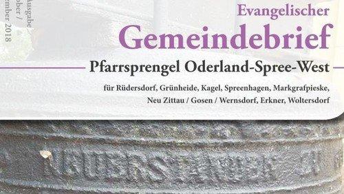 19. Evangelischer Gemeindebrief Oktober - November 2018