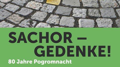Gedenkveranstaltung mit Stolpersteinbildern zum 80. Jahrestag des Pogroms vom 9. November 1938