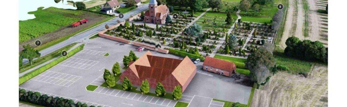 Info og billeder vedr. byggeriet ved Hjallerup kirke, det nye kirkehus.
