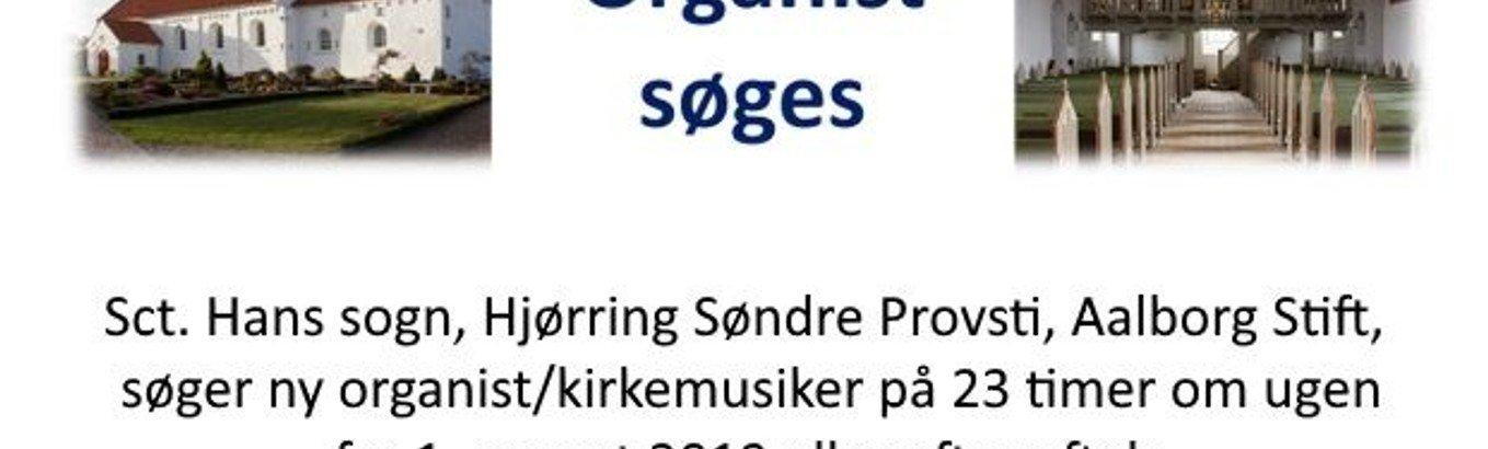 Organist søges til Sct. Hans Sogn
