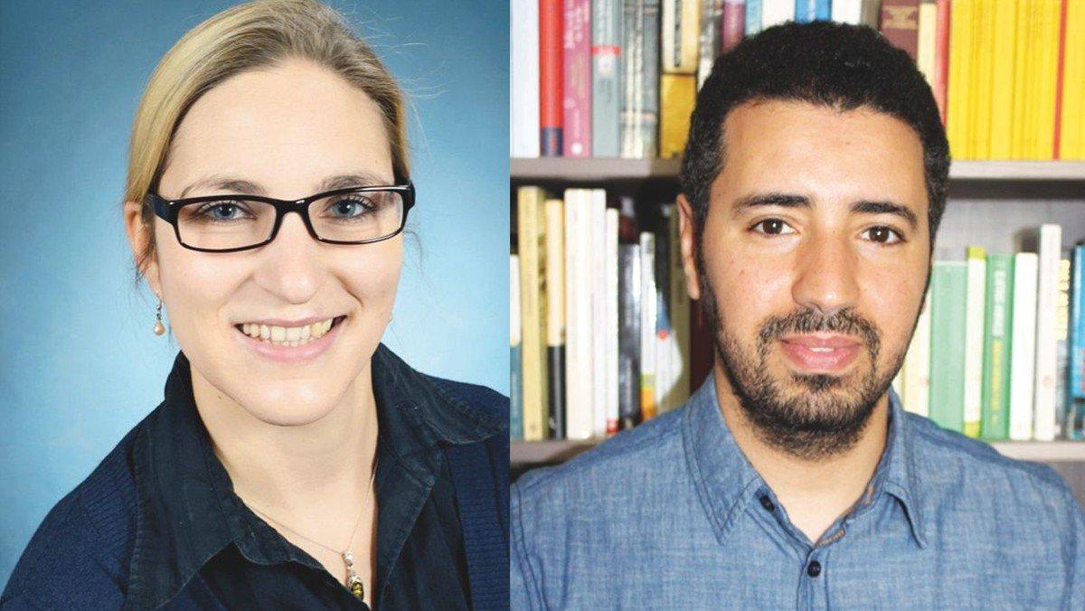 Die Flüchtlingsbeauftragten für Neukölln, Schöneberg und Tempelhof: Claudia Eichhorst und Mounaim Katir
