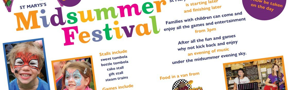 St Mary's Midsummer Festival, Saturday 29 June