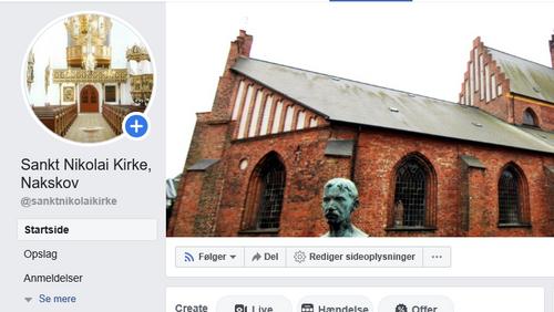 Kirken har fået ny side på facebook