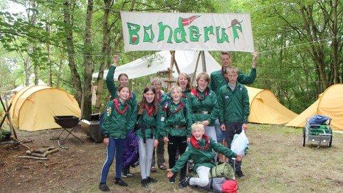 Lejrliv med udfordringer for Bonderup-spejdere