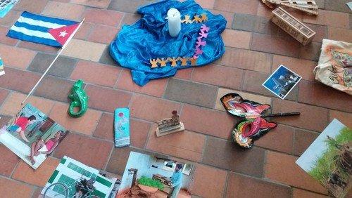 Gäste aus Kuba in der Christenlehre in Woltersdorf