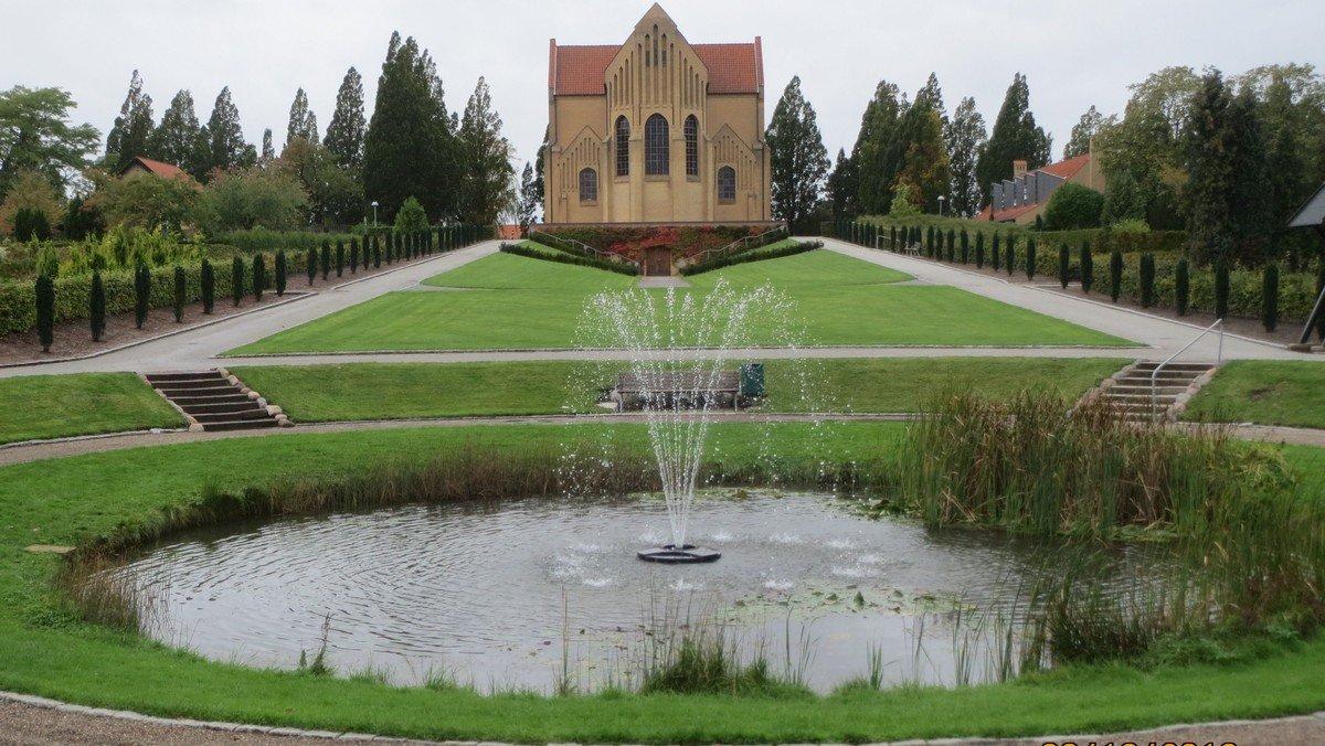 Springvandet i kirkegårdsdammen