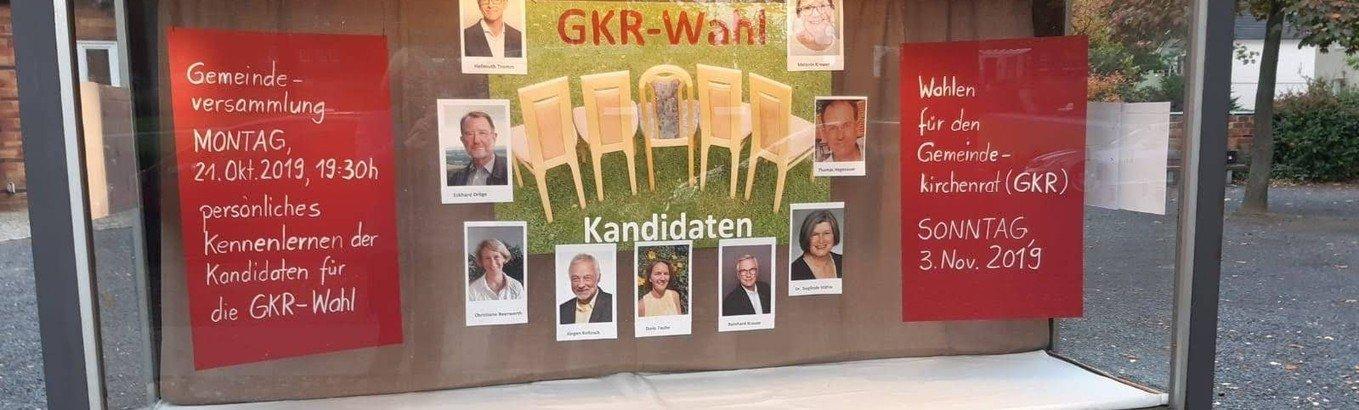 Unser Schaukasten zur GKR-Wahl 2019