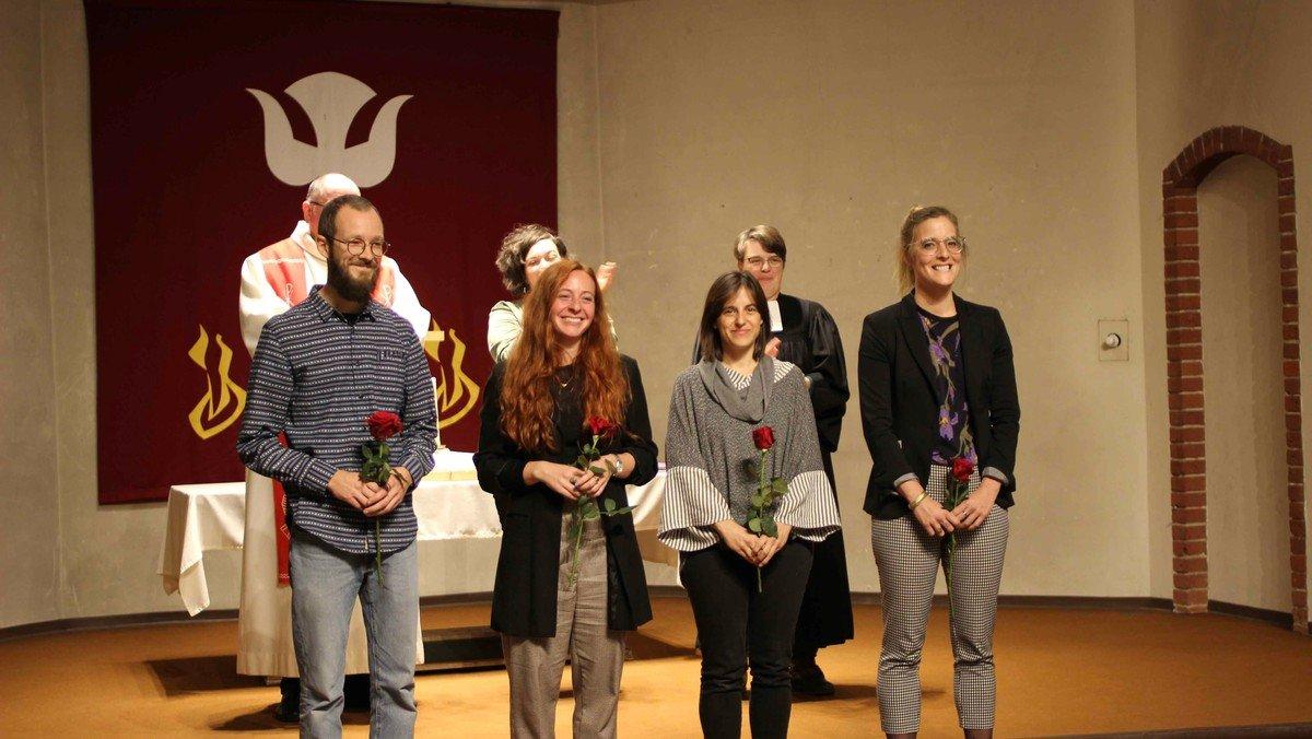 Team des innovativen Projektes UNBOX präsentiert sich auf Herbstsynode