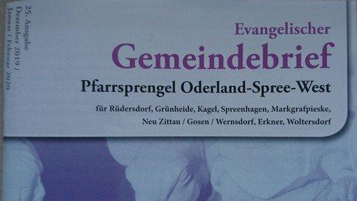 25. Evangelischer Gemeindebrief Dezember-Februar