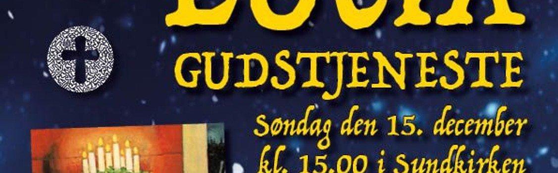 Luciagudstjeneste i Sundkirken søndag den 15. december kl. 15.00 ved Line Bønding