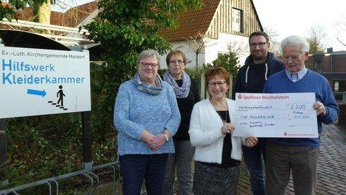 Meldorf: 2200 Euro für Förderkreis und Gemeindehilfswerk