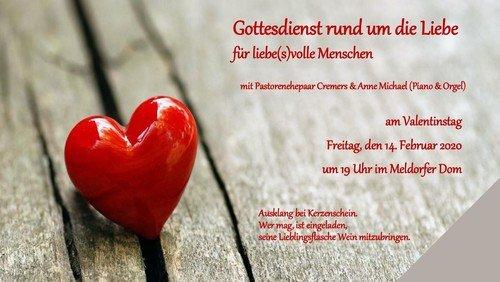 Gottesdienst rund um die Liebe