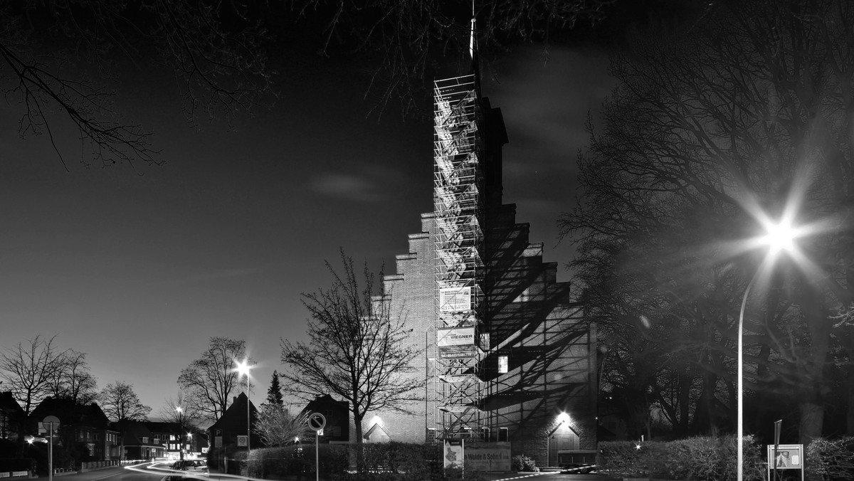 Arbeiten an der Glockenanlage der Kreuzkirche