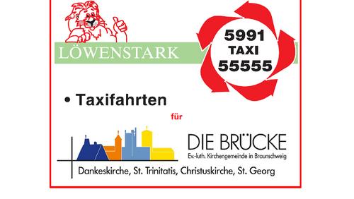 Taxigutscheine für Veranstaltungen der Kirchengemeinde Die BRÜCKE