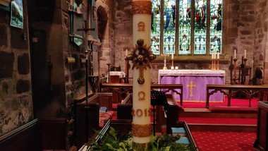 Prayers of Hope by the Paschal Candle