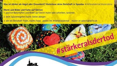 #stärkeralsdertod - St. Nikolai lädt ein: Ostersteine bemalen - suchen - finden