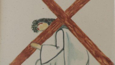 Stations of the Cross 3 Jesus falls the first time