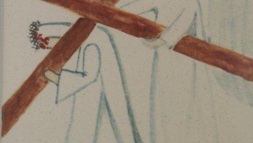 Stations of the Cross 5 Simon of Cyrene helps Jesus