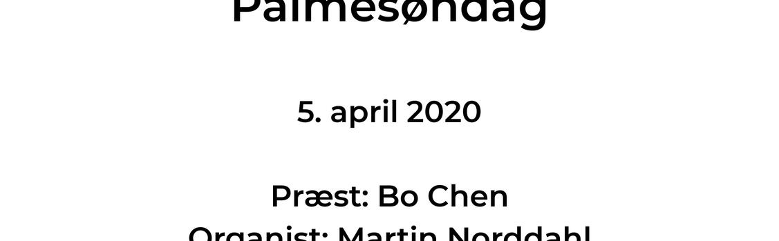 Palmesøndag v. Bo Chen og Martin Norddahl