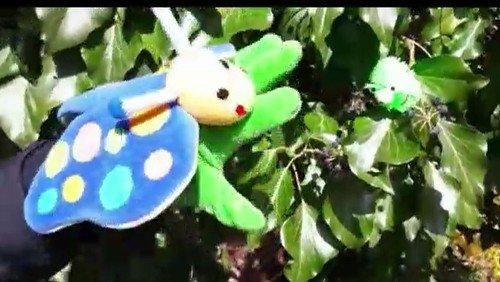 Ostervideo für Kinder: Die Raupe und der Schmetterling.
