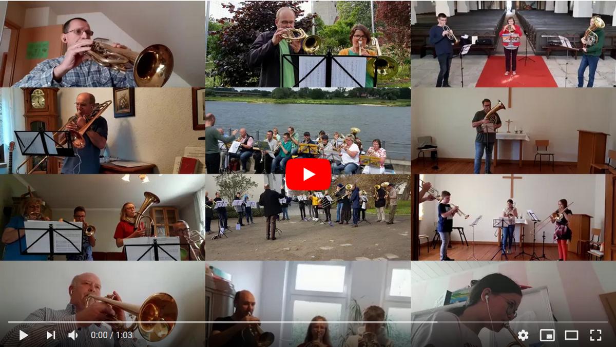 Gemeinsam statt einsam: Posaunenchor aus Schönebeck spielt Irischen Segenswunsch