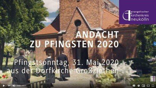 """""""SEIN GEIST WEHT, WANN UND WO ER WILL"""" – Videoandacht zu Pfingsten 2020"""