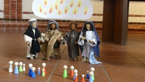 Schau zu - und drin bist Du! Ein Kindergottesdienst am Pfingstfest!