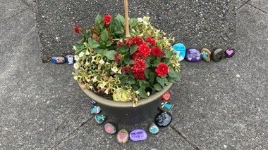 A Temporary Memorial for All Who Have Died of COVID-19