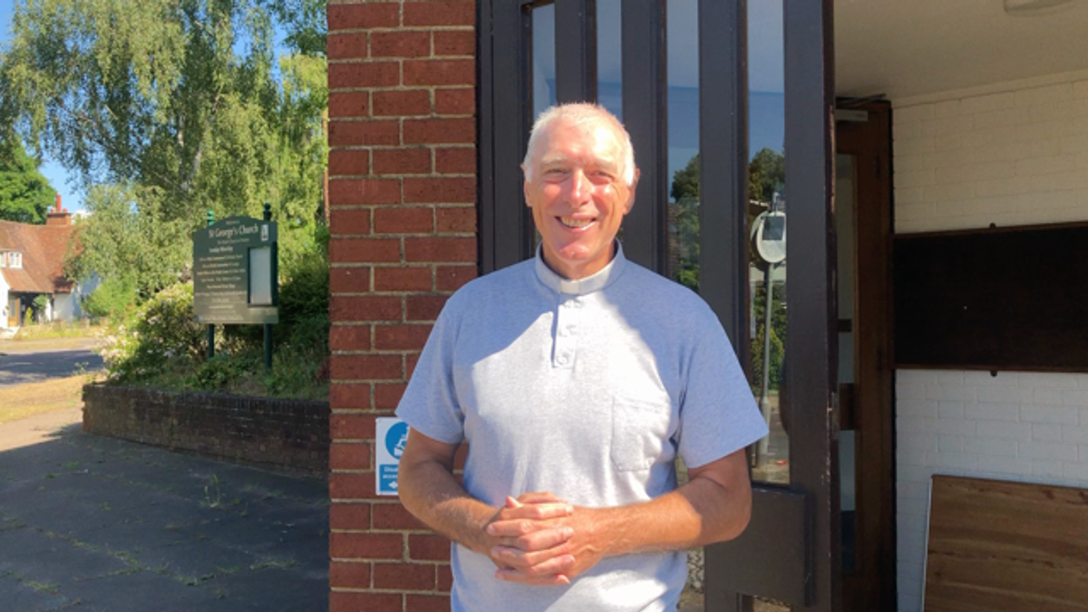 Rev Trev invites us into St. George's  to pray..Please watch the video!