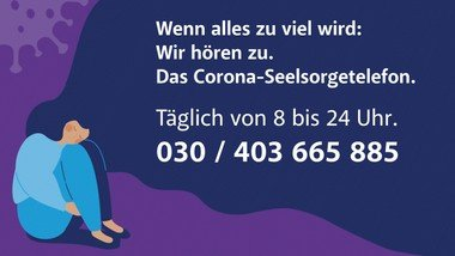 Corona-Seelsorge-Telefon  030 403 665 885