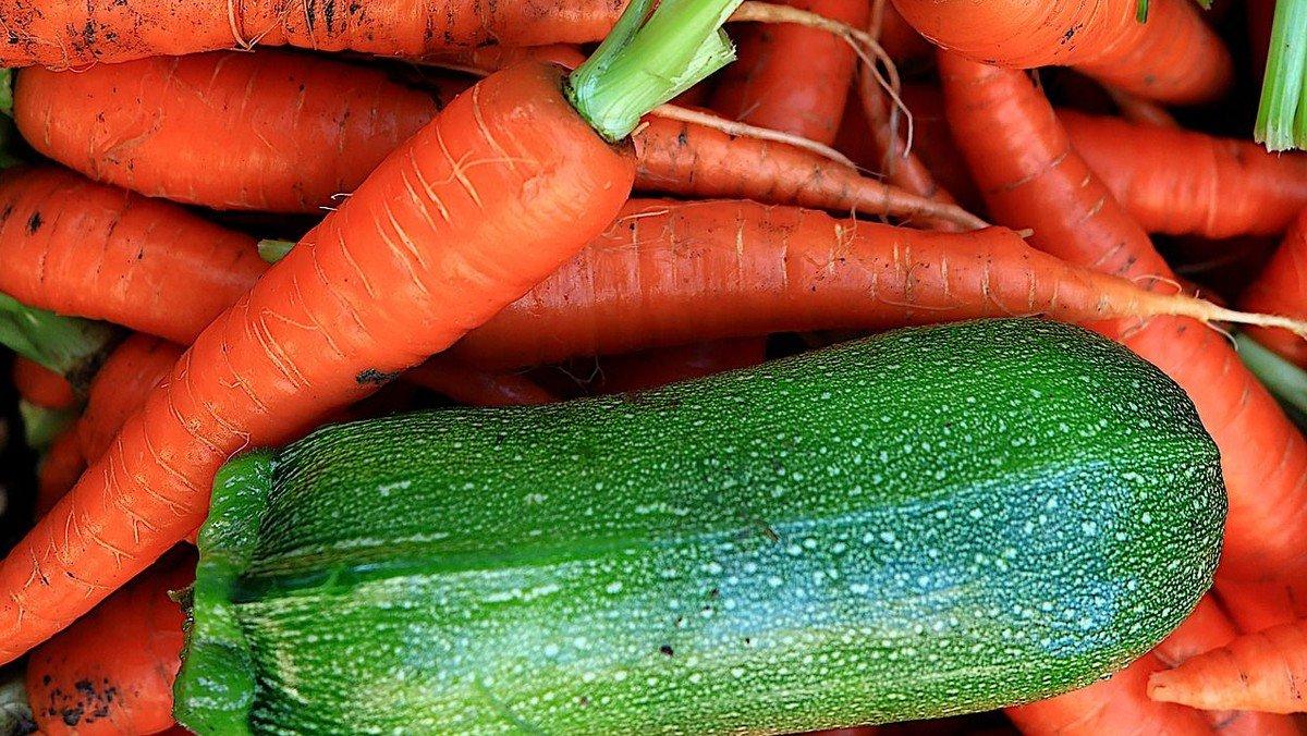 Leckeres aus Zucchini, Wurzeln und Erdbeeren