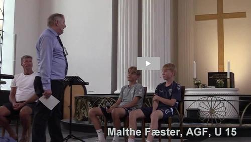 Video fra kirkestafetten tirsdag d. 11. august