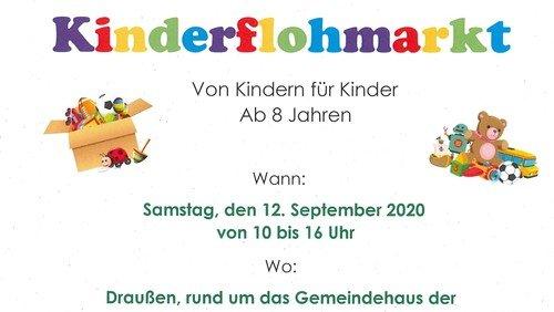 Kinderflohmarkt am Samstag, 12. September