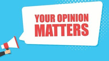 Have your say and fill in our survey