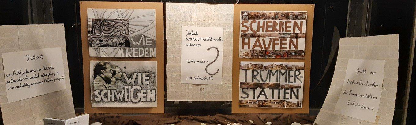 Unser Schaukasten im September: Scherbenhaufen