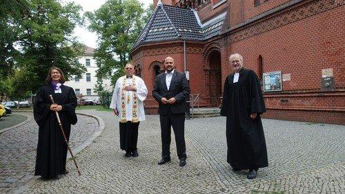 Andacht zur Eröffnung des Pilgerweges in Spandau